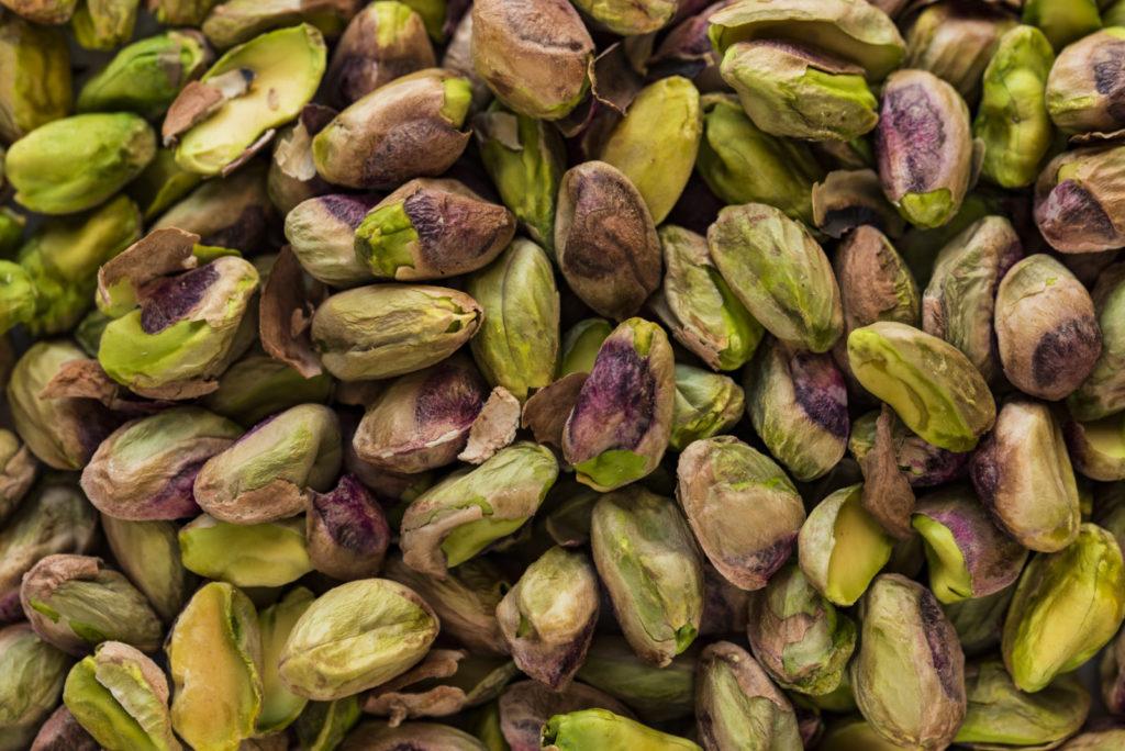 oříšky, pistacie